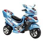 Kinder Elektromotorrad Dreirad 6V C031 von 3 bis 6 Jahren, 12W Motor (Blau)