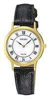 Seiko Damen-Armbanduhr Analog Quarz Leder SUP304P1