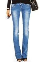 Bestyledberlin Damen Jeans hüftige Jeanshosen, Bootcutjeans low rise Hüftjeans Stretch Hose j02g 36/S