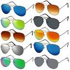 Pilotenbrille Verspiegelt Fliegerbrille Sonnenbrille Pornobrille Brille (36 | silver-verspiegelt)