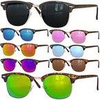Retro Sonnenbrille Clubmaster clubma Vintage Sonnenbrille (2 schwarz - dunkel)