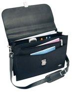 Wedo 585201 Aktentasche Elegance (mit Schultergurt abschließbares Metallschloss) schwarz