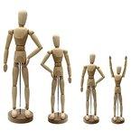 Artina® Gliederpuppe - Höhe 30cm - Zeichenpuppe Malhilfe Modellpuppe Gelenkpuppe aus Holz - diverse Größen