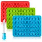 Süßigkeit-Silikon-Formen & Ice Cube Tabletts, Senhai 3er-Pack Gumdrop Jelly Formen, Schokoladen-Formen, Seifen-Formen - Bär