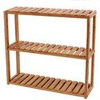 Songmics Badregal Wandregal Küchenregal Handtuchhalter Hängeregal Wandschrank aus Bambus 60 x 15 x 54 cm (BxTxH) BCB13Y