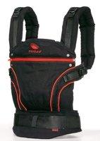 Manduca 222-20-11-003 Baby und Kindertrage, Black Line Radical Red, Bauch, Rücken und Hüfttrage, 100% BIO Baumwolle