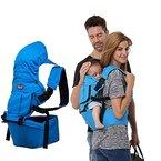 G-i-Mall Unisex Babytrage Kindertrage Komfortabel Baumwollen Baby Tragetaschen hipseat Adjustable Wrap Taille Hocker Baby Carrier Sling unter 36 Monate (Blau)