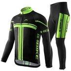 Inbike Radtrikot Set für Herren Fahrradbekleidung Langarm mit Radhose Lang(XL)
