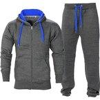 Herren Trainingsanzug Jogginganzug Fitnessanzug Kapuzenpullover Gym Set (L, Anthrazit)