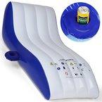 Jago Geräumige aufblasbare Luftmatratze für Wasser Schwimmsessel Poolsessel inkl. Getränkehalter, max. Belastung ca. 90 kg