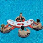 Jilong fashion water bar - Pool Set bestehend aus 4 Schwimmsitzen mit Meshboden und einem Tisch mit Getränkehaltern