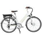 Onway 28 Zoll 7-Gang Damen City E-Bike, Trekking Rad, Präzise SHIMANO 7-Gang, 36V Lithium-Akku