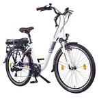 "NCM Munich 26"" Zoll Elektrofahrrad Herren/Damen Unisex Pedelec,E-Bike,City-Bike Rad, 36V 250W 14Ah Lithium-Ionen-Akku mit PANASONIC Zellen, matt weiß"