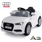 AUDI A3 Cabriolet Kinder Elektroauto Elektro Kinderauto Kinderfahrzeug (Weiss)
