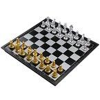 Schachspiel Kunststoff Magnetisch Pädagogische Schachbrett für ab 6 Kinder 25x25cm