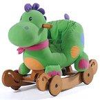 Labebe - Kinder Schaukelpferd - Dual-use Dinosaur mit Räder