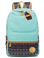 Leaper lässig leichtes canvas Laptop Tasche Umhängetasche Schule Rucksack (Wasser blau)
