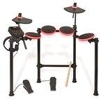 ION Audio Redline Drums | Beleuchtetes elektronisches Schlagzeug mit über 200 verschiedenen Drum und Becken Sounds - inkl. Drumsticks und Kopfhörern