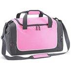 Quadra Sporttasche in Kompaktgröße für Umkleidespinde QS77 Pink/Graphite Grey/White