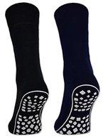 2, 4 oder 6 Paar Damen & Herren ABS Socken Anti Rutsch Socken Stoppersocken Noppensocken Schwarz Blau Grau - 44441 (Schwarz/Blau/Grau 47-50, 2 Paar)
