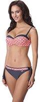 aQuarilla Damen Bikini Set AQ120(Graphite/Lachs, 44)
