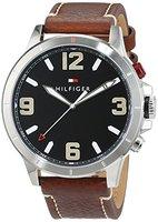 Tommy Hilfiger Herren-Smartwatch Casual Sport Analog - Digital Quarz Leder 1791296