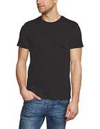 ESPRIT, Herren T-Shirt Basic - Slim Fit, Schwarz (BLACK 001), Large (Herstellergröße: L)