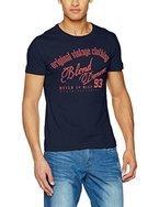 Blend Herren T-Shirts 20702941, Blau (Navy 70230), Large