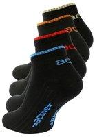 """8 Paar schwarze Herren Active Sneaker Socken, mit """"active"""" Schriftzug aus geschmeidig weicher Baumwolle /Elasthan mix, Gr. 43-46"""