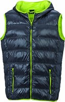 James & Nicholson Herren Jacke Daunenweste Men's Down Vest grau (carbon/acid-yellow) XXX-Large