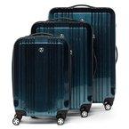 FERGÉ Dreier Kofferset CANNES - 3 Trolley-Hartschalenkoffer mit 4 Zwillingsrollen - Trolley-Koffer royal-blau