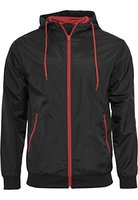 Herren Contrast Windrunner Jacke in versch. Farben XL,Black/Red