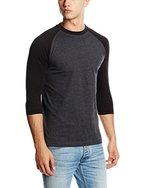 Urban Classics Herren T-Shirt Contrast 3/4 Sleeve Raglan Tee, Gr. Small, Mehrfarbig (cha/blk 314)