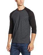 Urban Classics Herren T-Shirt Contrast 3/4 Sleeve Raglan Tee, Mehrfarbig (Cha/Blk 314), X-Large