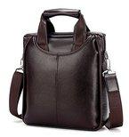 Geschäfts Aktentasche Beiläufig Faux Leder Handtaschen Umhängetasche für Herren