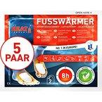 The HEAT company Fußwärmer Wärmekissen SELBSTKLEBEND auf Socken 8 Std. Wärmedauer 5 Paar