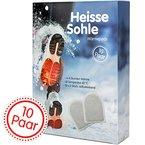 Heisse Sohle Fußwärmer - 10 Paar Vorteilspack