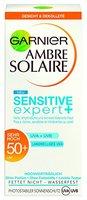 Garnier Ambre Solaire Sonnencreme Gesicht Sensitive Expert+ / Gesichts-Sonnenschutz wasserfest / LSF 50+ für empfindliche Haut, 1er Pack - 50 ml