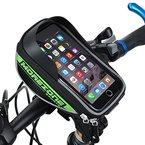 """Fahrradtasche Rahmentaschen, MOREZONE Fahrradschnalletasche mit zwei Fächern, geeignet für Handy mit Größe unten 5,5"""", Fahrradlenkertasche"""