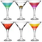 City Martini-Gläser, 175 ml, 6 Stück, in Geschenk-Box, klassische V-förmige Martini-Gläser zum Servieren von Cocktails