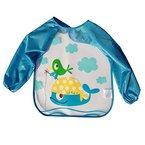 URAQT Unisex Baby Wasserdicht Lätzchen mit Ärmeln Essen und Play Smock Kleinkinder, Schürze PEVA mit Tier (Wal)