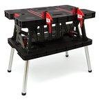 Keter 17182239  Werkzeugbank Master Pro Serie Folding Work Table,  Kunststoff, schwarz / gelb