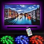 """Emotionlite LED TV Hintergrundbeleuchtung Vorbeleuchtungspegel Streifen Stromversorgung über USB Multi Color RGB-Tape Farbe geändert mit 24Tasten Fernbedienung für 32 """"bis 60"""" Flat Screen HDTV LCD und Desktop-PC"""
