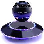 MUSIC ANGEL freischwebender Lautsprecher mit Bluetooth 4.0 Multifarben LED kabellos 360° mit Mikrofon (schwarz)