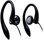 Philips SHS3200/10 Sport Ear-Hook-Kopfhörer (15 mm Lautsprechertreiber, Flexible 3D-Ohrbügel, 1,2 m Kabellänge) schwarz