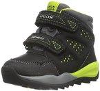 Geox Jungen J Orizont Boy Abx A Hohe Sneakers, Schwarz (Black/LIMEC0802), 30 EU