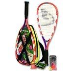 Badminton Set - Kinder Speedminton Set - Speedminton Schläger - Federball Set - Speedminton S-Junior Set