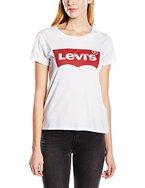 Levi's Damen T-Shirt, The Perfect Tee, GR. 40 (Herstellergröße: Medium), Weiß (C1 Graphic Bright White)