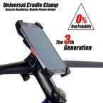 Anti-Shake Fahrradhalterung Handy-Halter Universal Radsport Verhütung Von Abstürzen Fahrrad-Lenker Handyhalter Wiege Klammer Mit 360 Drehen Für 3,5-6,5 Zoll Smartphone GPS Andere Geräte (Universal)