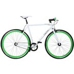28' Fixie Singlespeed Bike Viking Blade 5 Farben zur Auswahl, Farbe: Weiss / Grün; Rahmengrösse: 59 cm
